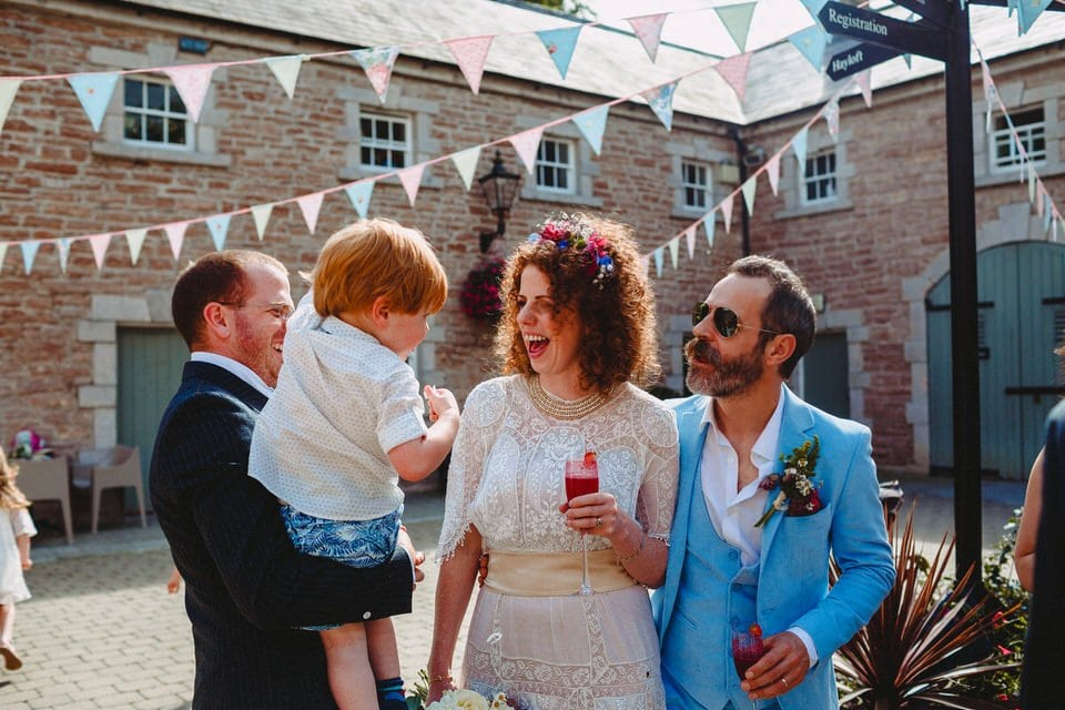 colourful vintage wedding Palace Stables Armagh, Northern Ireland