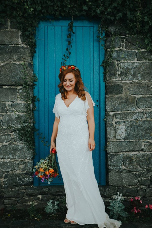 flower crown alternative bride northern ireland