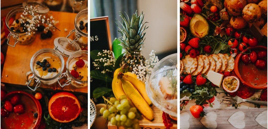 food to eat during bridal prep - how to make the most of your bridal prep photos