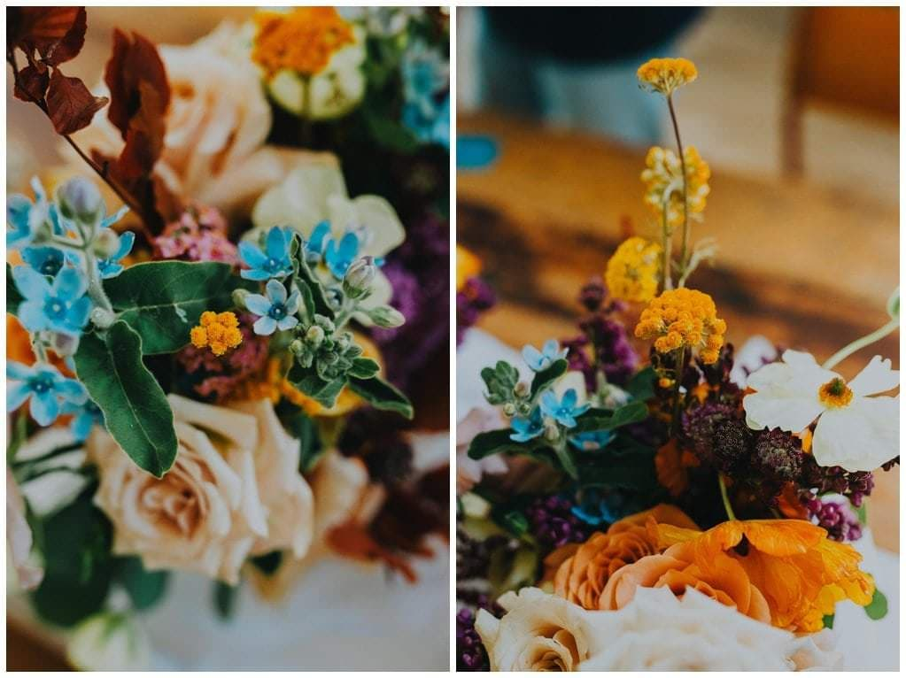 super colourful wedding flowers by The Rosehip and Berry