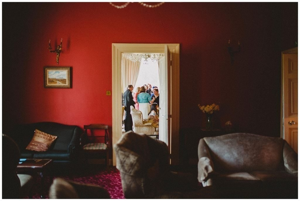 guests mingling at Castle Grove Country House
